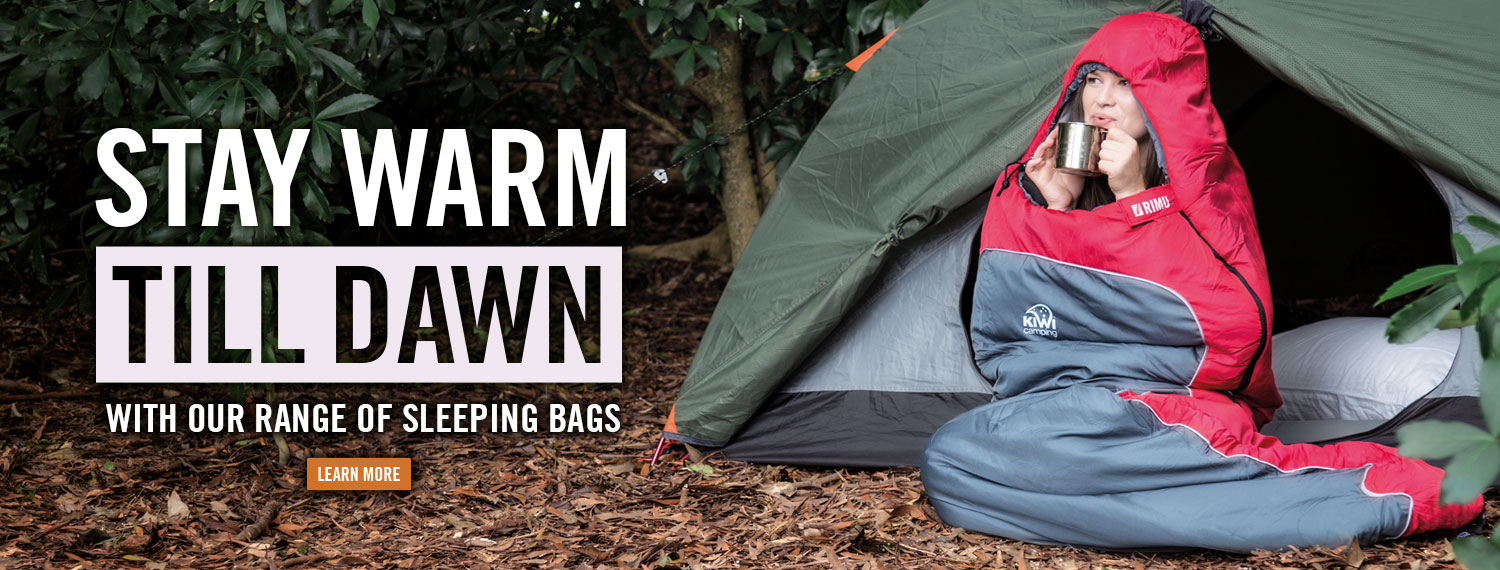 Stay Warm Till Dawn & Camping Equipment Tents and Gear from Kiwi Camping NZ