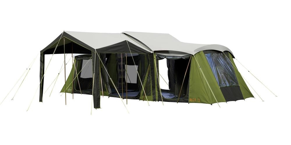 Moa 12 Canvas Tent  sc 1 st  Kiwi C&ing & Large Family Canvas Tent | Moa 12 From Kiwi Camping NZ