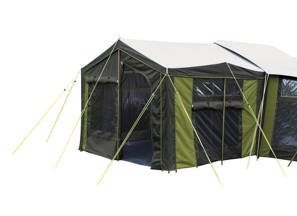 Large family canvas tent moa 12 from kiwi camping nz for Canvas tent fly