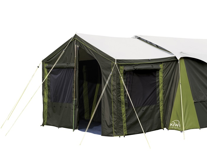 Canvas family tents luxury tents for sale kiwi camping nz for Canvas tent fly