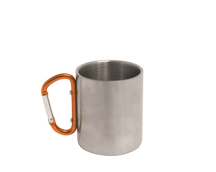 Stainless Steel Mug with Carabiner Handle