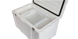 90L Chillzone Ice Box inside - basket and divider bottles available separtely