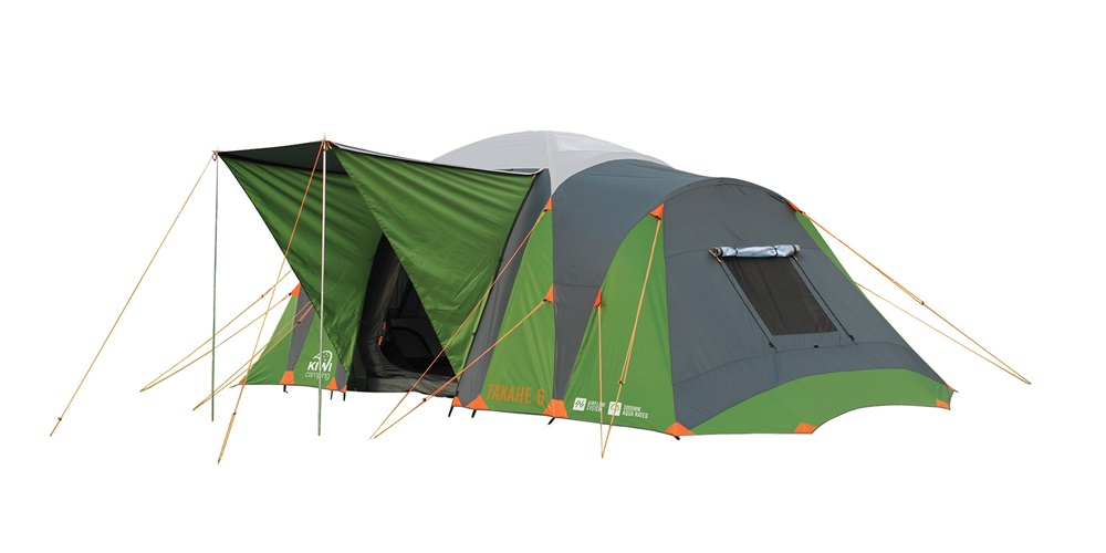 Takahe 6 Dome Tent with porch up