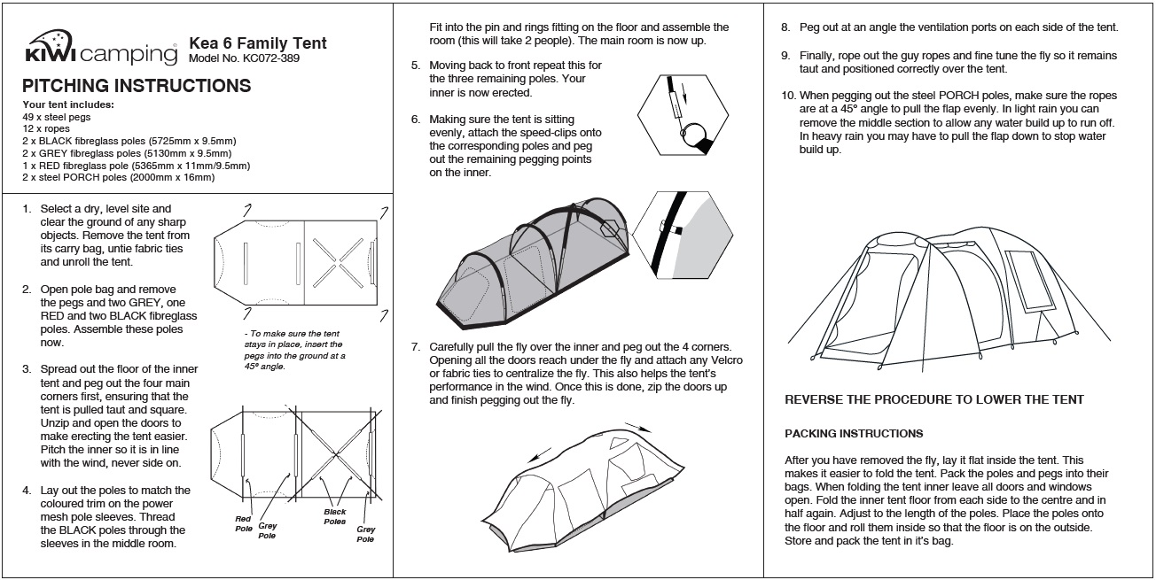 Recreational Dome Tent Kea 6 From Kiwi Camping Nz