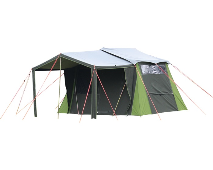 Single room canvas tent kakapo 5 from kiwi camping nz for Canvas tent fly