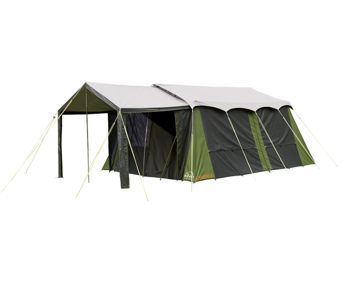 2 room canvas tent kakapo 8 from kiwi camping nz for Canvas tent fly
