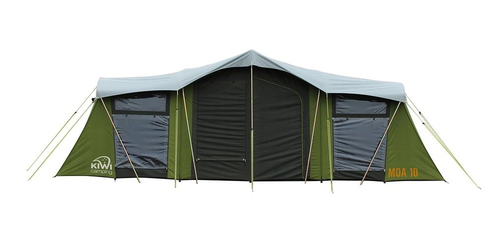 ... Moa 10 Canvas Tent Back View ...  sc 1 st  Kiwi C&ing & Moa 10 Person Family Canvas Tent | Kiwi Camping NZ