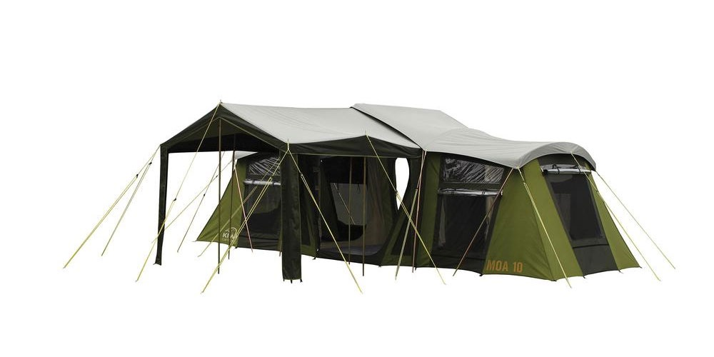 Moa 10 Canvas Tent ...  sc 1 st  Kiwi C&ing & Moa 10 Person Family Canvas Tent | Kiwi Camping NZ