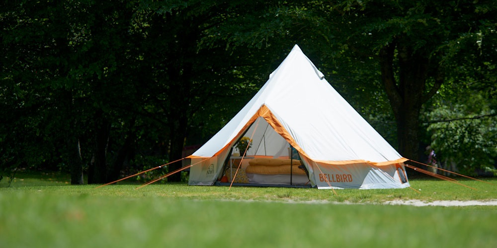 Get back to the romance of camping with the Bellbird 'Tee-Pee' styled tent.