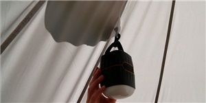 Hanging hooks for lights or mosquito mesh.