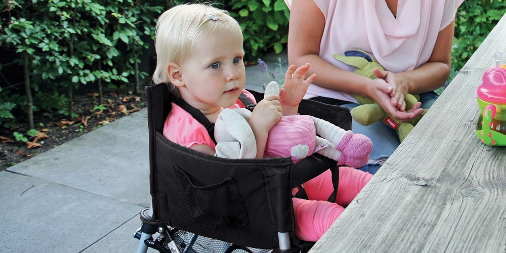 Tiny Tot Portable High Chair with tray removed