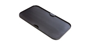 Flat side of deluxe double sided grill plate
