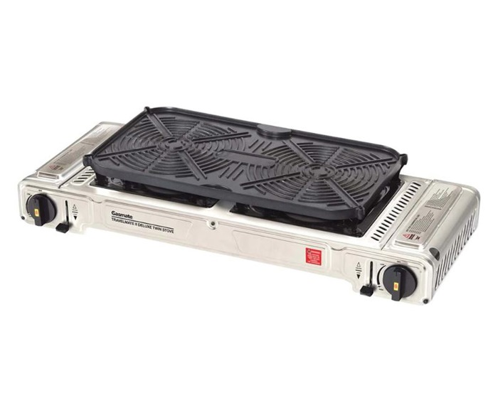 Gasmate Deluxe Twin Stove with Hotplate