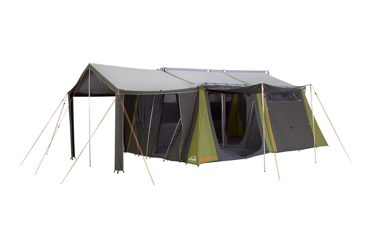 3 Room Canvas Tent Kakapo 10 From Kiwi Camping Nz