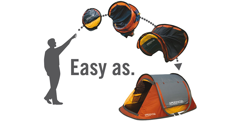 Speedy 2 Pop-Up Dome Tent – throw it open