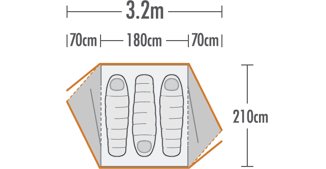 Weka 3 Hiker Tent plan view