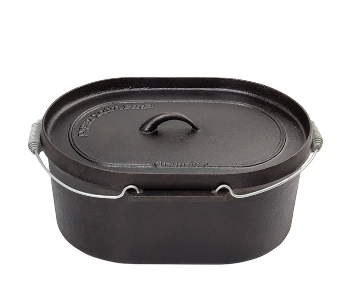 Charmate 10 Quart Oval Cast Iron Camp Oven