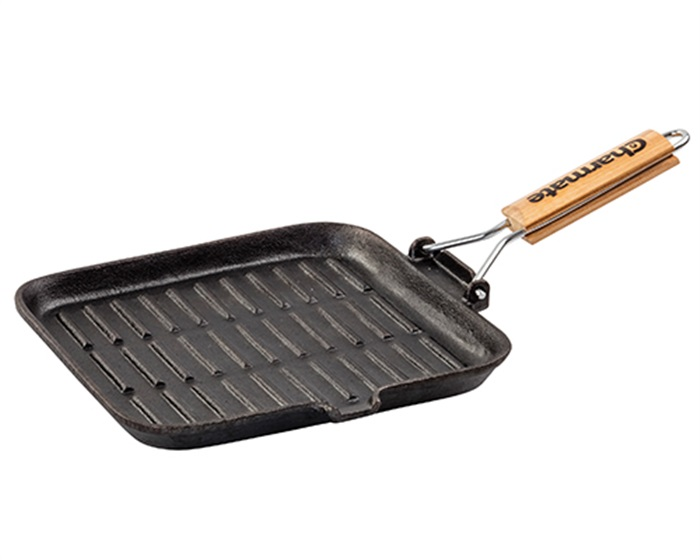 Charmate 24cm Square Cast Iron Frying Pan