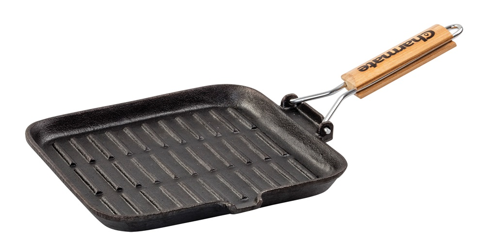 Charmate 30cm Square Cast Iron Frying Pan