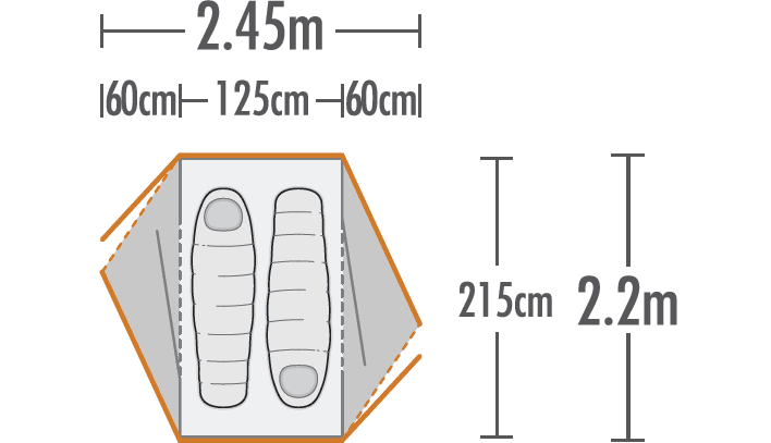 Weka 2 Hiker Tent plan view
