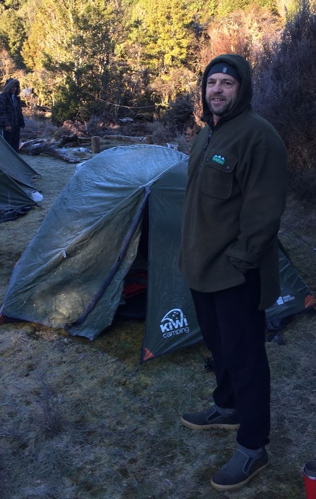 Gregg cold weather tests the Weka Tent.