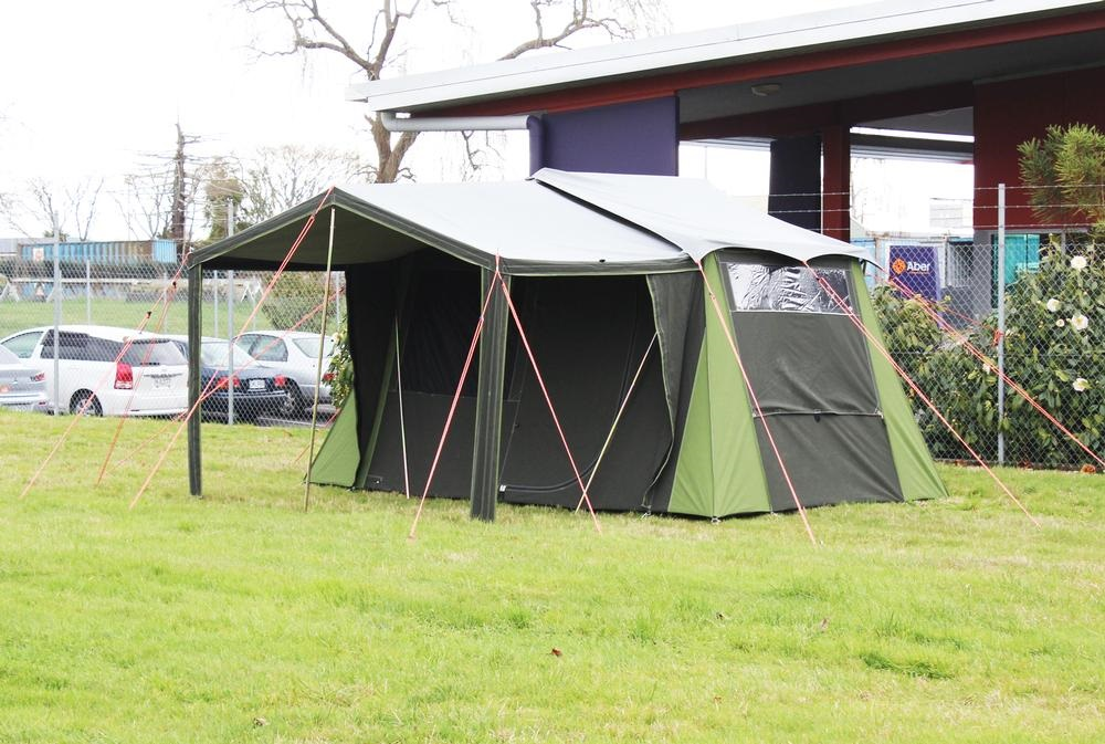 Kakapo 5 Canvas Tent tested for 8 weeks in both sunny and stormy conditions