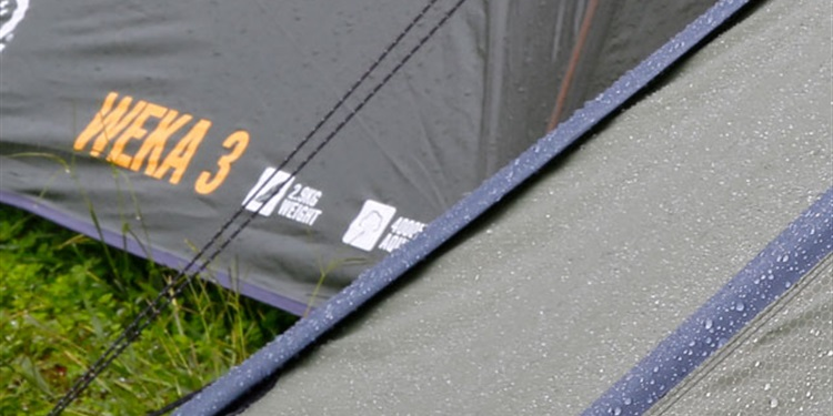 Choosing a tent made for wet weather is essential.